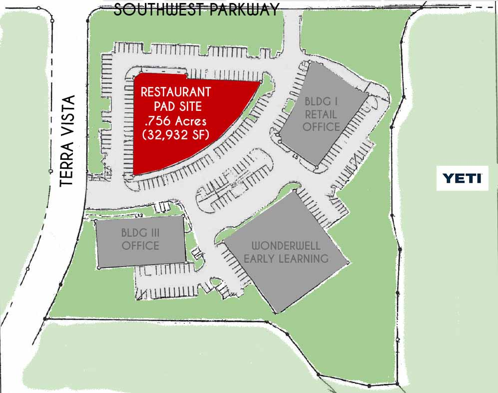 restaurant pad site southwest parkway